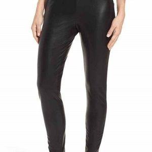 Leith Women/'s High Waist Faux Leather Black Leggings NDR1